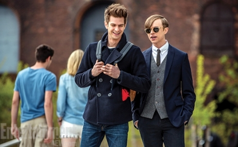 Peter Parker (Garfield) y Harry Osbourne (Hann)